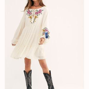 Spell On Your Embroidered Mini Dress.